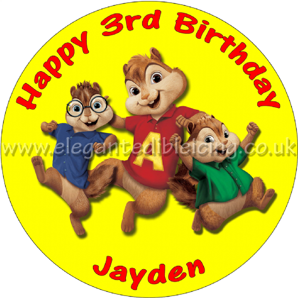 ALVIN AND THE CHIPMUNKS PERSONALISED CAKE TOPPER